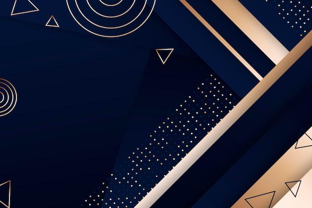 Geometrischer luxushintergrund mit farbverlauf