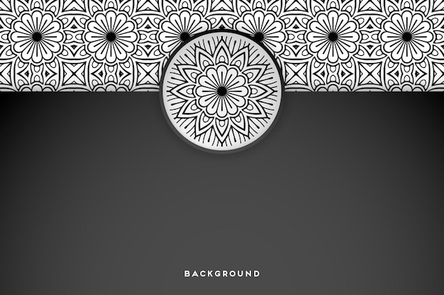 Geometrischer mandala hintergrund