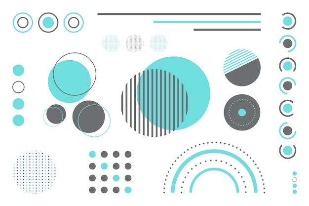 Geometrischer modellhintergrund im flachen design