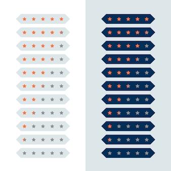 Geometrischer moderner sternbewertungs-symboldesign
