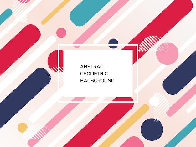 Geometrischer musterhintergrund der abstrakten bunten formen.