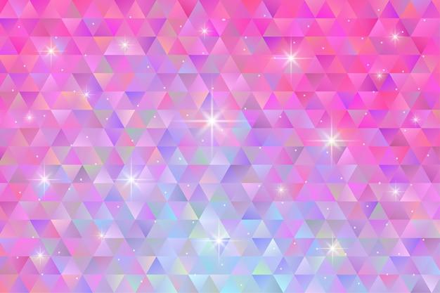 Geometrischer musterhintergrund mit blinkendem sternlicht. polygon tapete