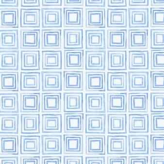 Geometrischer nahtloser gemusterter hintergrund des indigoblau-aquarells