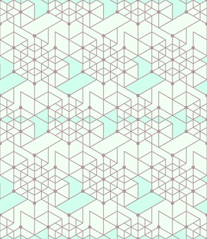 Geometrischer nahtloser musterhintergrund mit linie