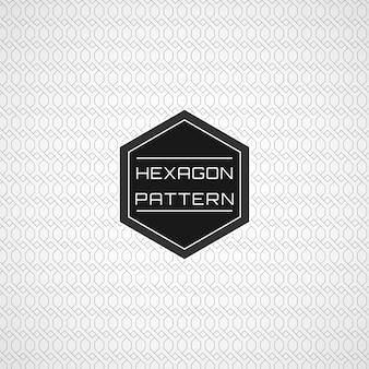 Geometrischer nahtloser netzlinie hexagon-muster-hintergrund