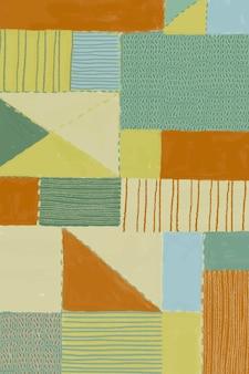 Geometrischer patchwork-gemusterter hintergrund