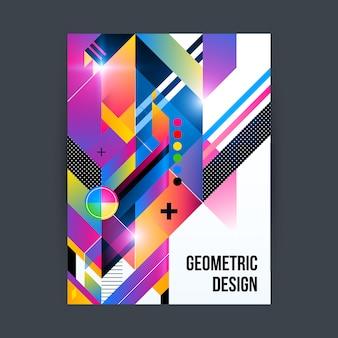 Geometrischer plakatentwurf