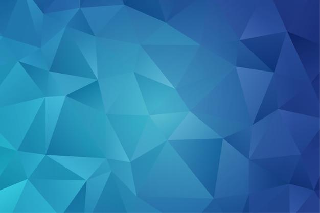 Geometrischer polygonhintergrund. diamant tapete. elegantes muster in blauer farbe
