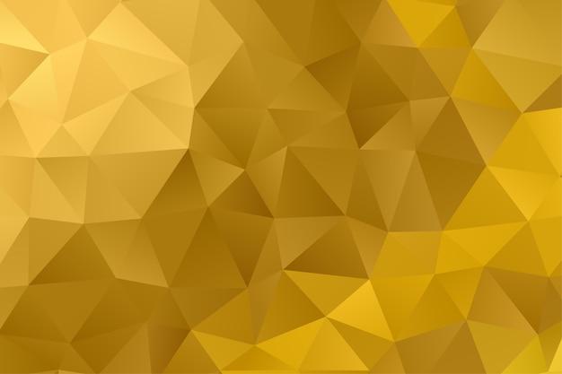 Geometrischer polygonhintergrund. diamant tapete. elegantes muster in goldfarbe