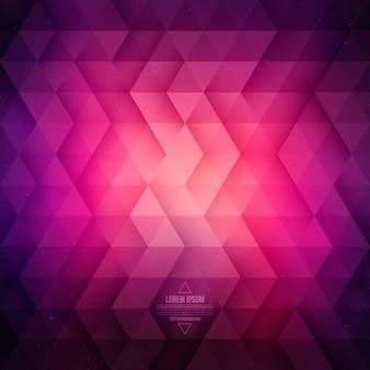 Geometrischer purpurroter hintergrund der vektortechnologie abstrakt