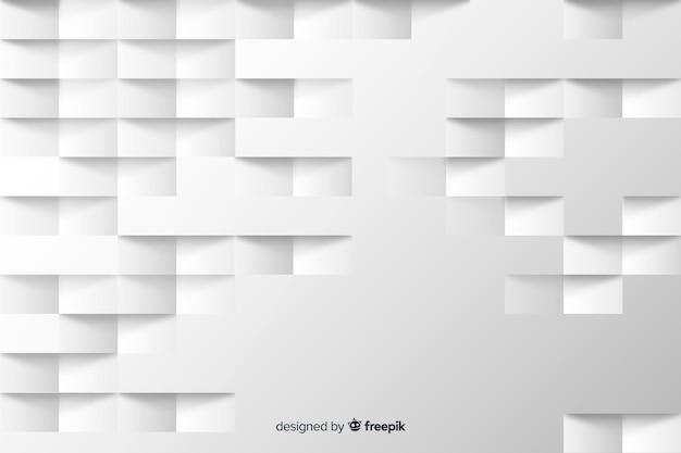 Geometrischer quadrathintergrund in der papierart