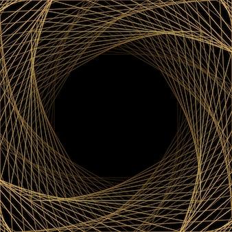 Geometrischer rahmen für goldene linien. trendige designvorlage für broschüre, poster oder visitenkarte. illustration