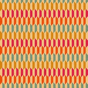 Geometrischer retro-hintergrund mit textur des papiers