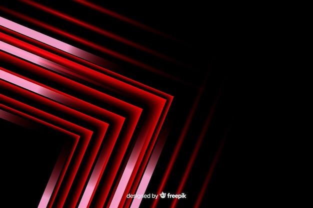 Geometrischer roter pfeil beleuchtet hintergrund