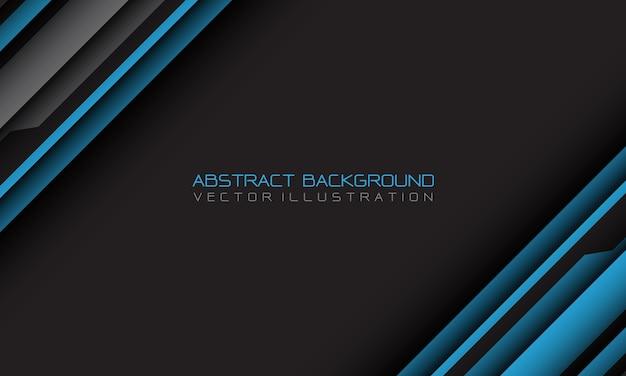 Geometrischer schrägstrich des abstrakten blauen grauen cyber mit dem leeren futuristischen hintergrund des leerraums und des textdesigns