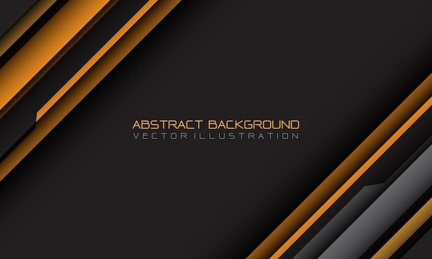 Geometrischer schrägstrich des abstrakten gelben grauen cyber mit dem leeren futuristischen hintergrund des leerraums und des textdesigns