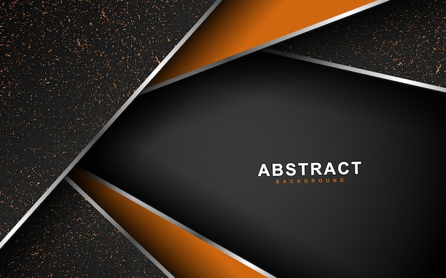 Geometrischer überlappungsschichthintergrund mit moderner art