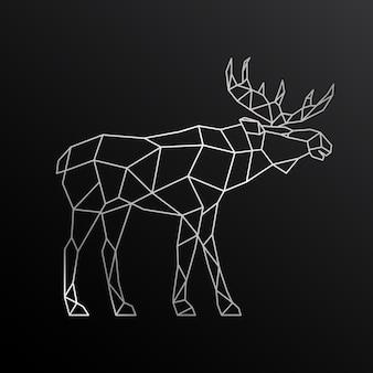 Geometrischer umriss von elchen.
