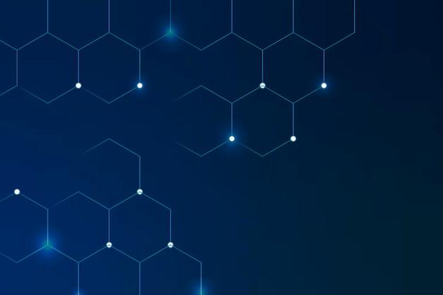 Geometrischer wabengemusterter blauer hintergrund