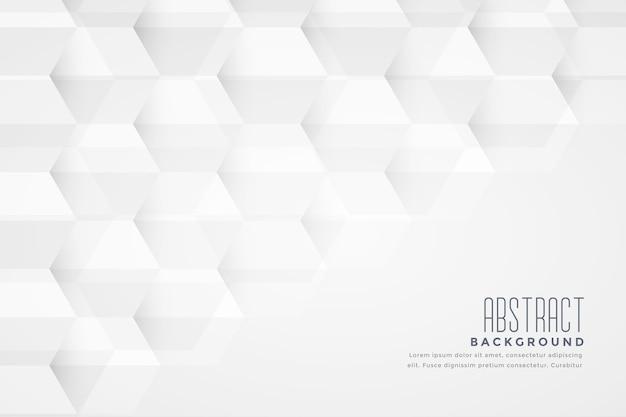 Geometrischer weißer hintergrundentwurf der abstrakten sechseckigen form