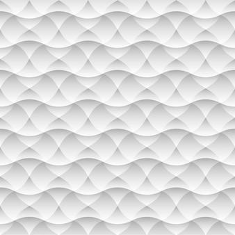 Geometrischer weißer nahtloser musterhintergrund von abstrakten wellen
