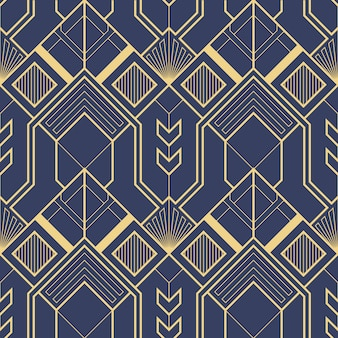 Geometrisches abstraktes art-deco-muster