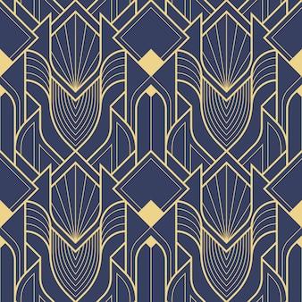 Geometrisches abstraktes art-deco-muster