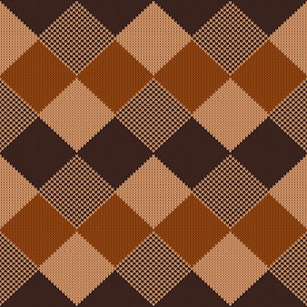 Geometrisches abstraktes gestricktes muster.