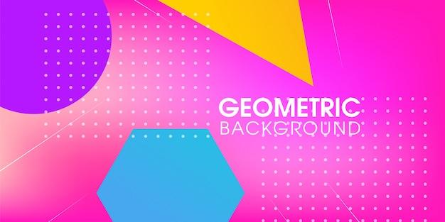 Geometrisches abstraktes modernes hintergrunddesign