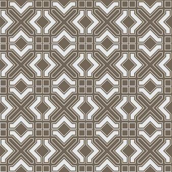 Geometrisches abstraktes nahtloses muster im arabischen stil