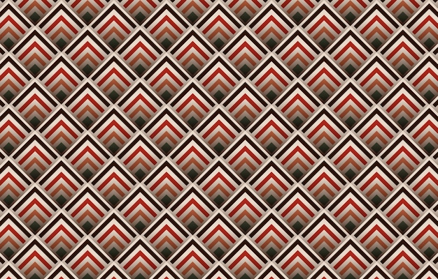Geometrisches abstraktes nahtloses musterdesign mit schatten. boho aztekisches design für teppich, tapete, kleidung, verpackung, batik, stoff,