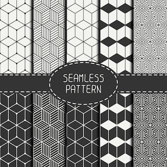 Geometrisches abstraktes nahtloses würfelmuster mit rauten