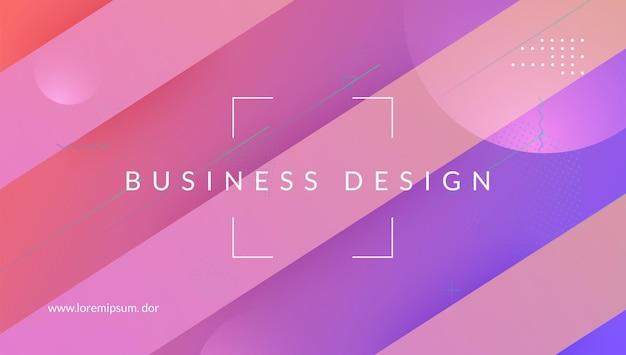 Geometrisches banner. hintergrund mit farbverlauf. rosa trendiges layout. wave-landingpage. spektrum einladung. modernes konzept. flaches minimalistisches design. mobiler rahmen. magenta-geometrisches banner