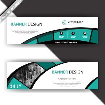 Geometrisches bannerdesign