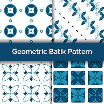 Geometrisches batik-nahtloses muster