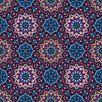 Geometrisches buntes mandala nahtloses muster