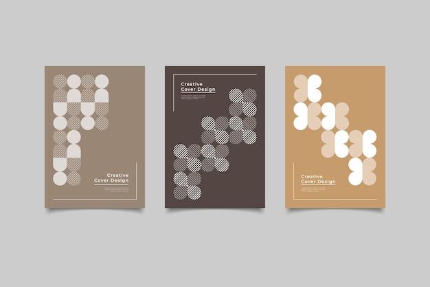 Geometrisches cover minimalistisches design
