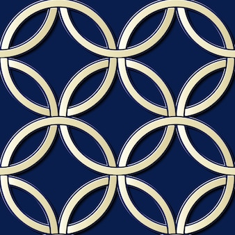 Geometrisches dekoratives nahtloses muster