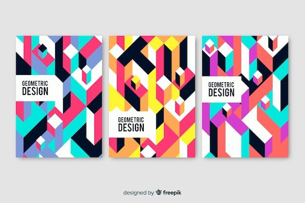 Geometrisches design deckt pack