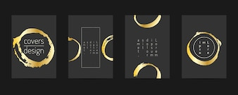 Geometrisches Design der Plakatschablone.