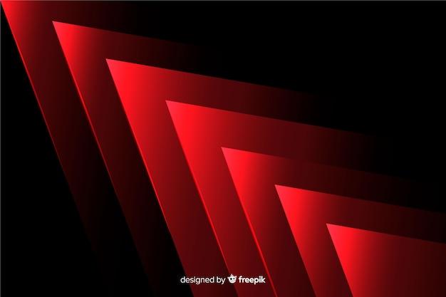 Geometrisches design des hintergrundes mit roten lichtern