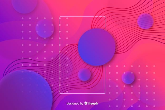 Geometrisches design mit farbverlauf formt hintergrund