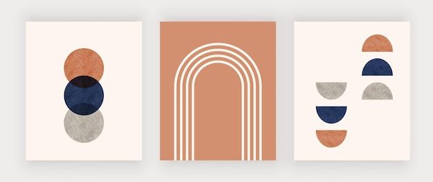 Geometrisches design wandkunstdruck