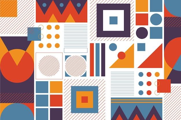 Geometrisches design wandtapete