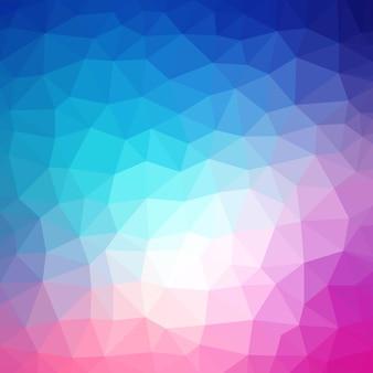 Geometrisches dreieckiges formmuster der bunten niedrigen polyart
