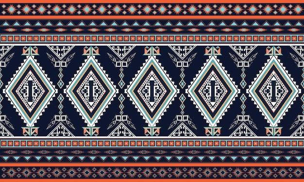 Geometrisches ethnisches muster. teppich, tapete, kleidung, verpackung, batik, gewebe, vektorillustrationsstickereiart.