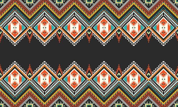 Geometrisches ethnisches musterdesign für nahtlosen hintergrund.