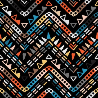 Geometrisches ethnisches nahtloses stammesmuster im aztekischen stil.