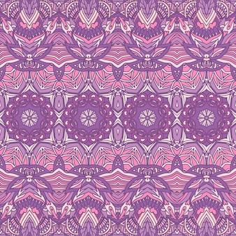 Geometrisches ethnisches stammesmuster. nahtloses muster des abstrakten lavendels dekorativ.