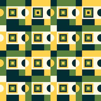 Geometrisches farbiges nahtloses muster der retro- artzusammenfassung.